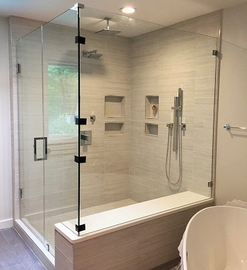 Glass Shower Door Fairfax VA Mclean Reston Vienna Arlington Glass - Bathroom shower door repair